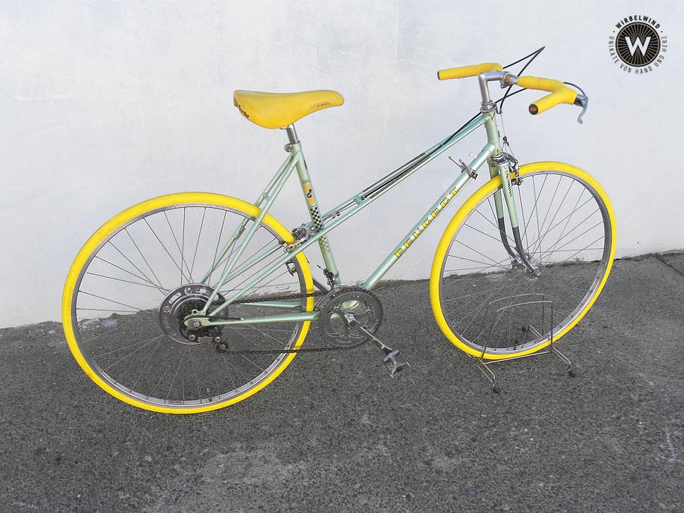 Peugeot gelb grün Mixte Der Wirbelwind